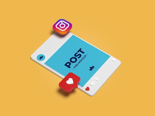 Post instagram mockup design isolé