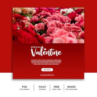 Post spécial de valentine pour les médias sociaux