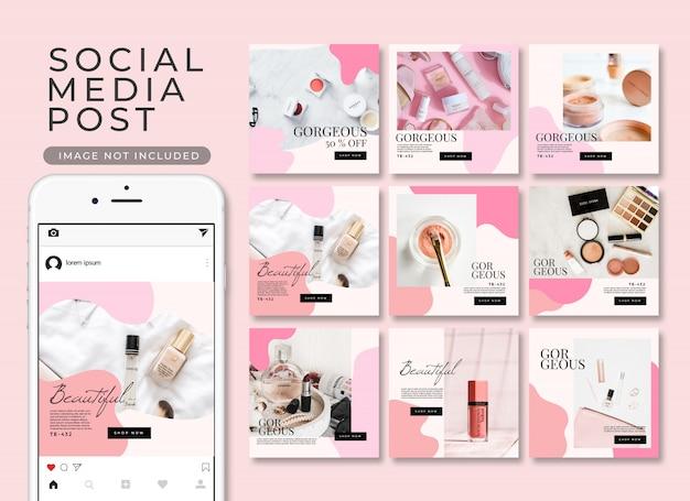 Poste instagram, collection de modèles premium
