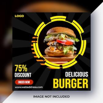 Poste de média social alimentaire