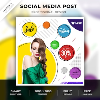 Poste de mode abstrait sur les médias sociaux