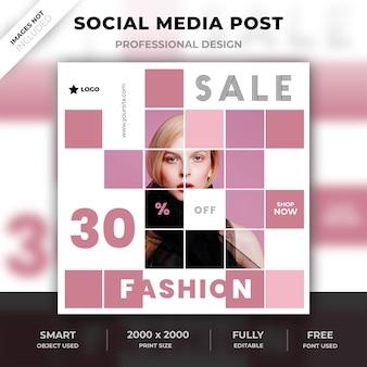 Poste de mode sur les médias sociaux
