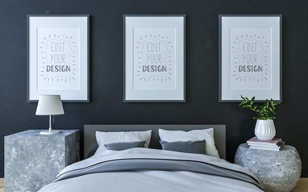 Poster cadre intérieur dans une chambre