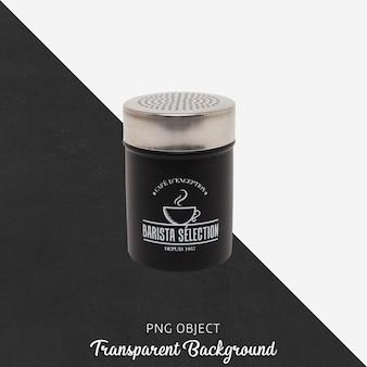Pot à épices noir sur transparent