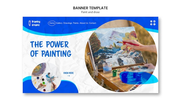 Le pouvoir de la peinture modèle de bannière
