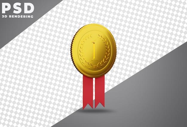 Premier prix de la médaille d'or rendu 3d