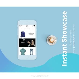 Présentation De L'écran Du Téléphone Portable PSD Premium