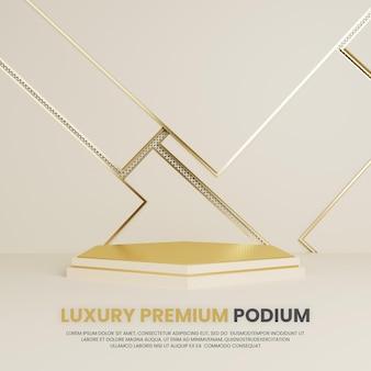 Présentation de produits de podium d'ornement de luxe premium gold