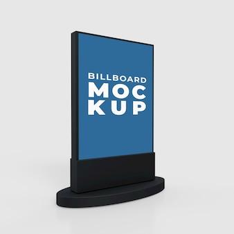 Présentations de maquette lightbox ou panneau d'affichage vertical