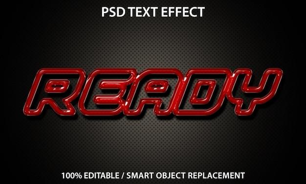 Prêt pour les effets de texte premium