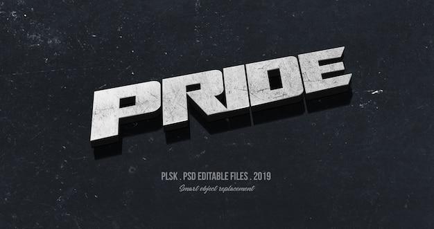Pride 3d effet de style de texte