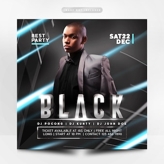 Prime flyer party noir