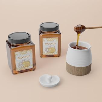 Produit de miel biologique en pot