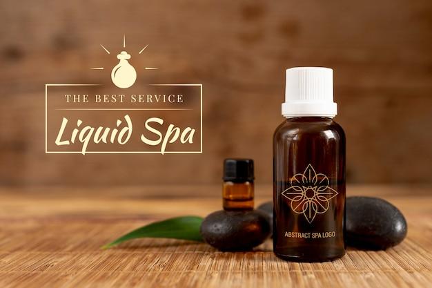 Produit organique et liquide au spa