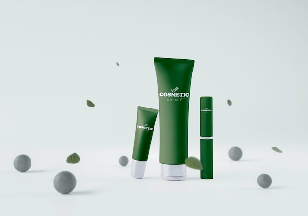 Produits cosmétiques avec sphères