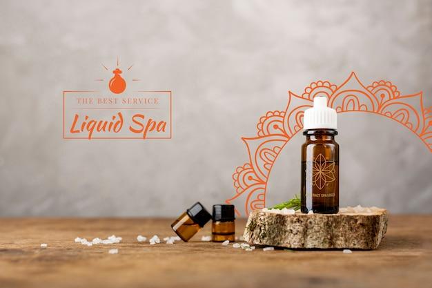 Produits naturels gras pour massage en spa