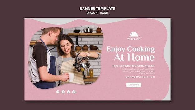 Profitez de la cuisine à la maison modèle de bannière