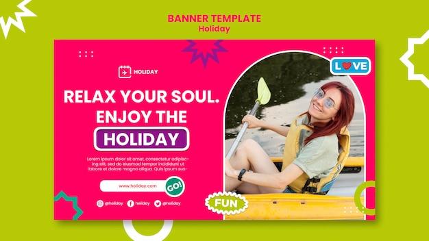 Profitez du modèle de bannière de vacances