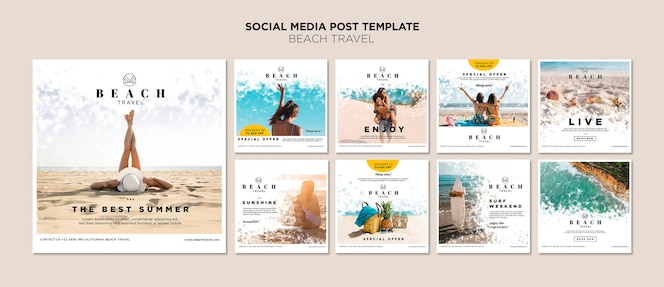 Profitez de la meilleure publication sur les réseaux sociaux d'été