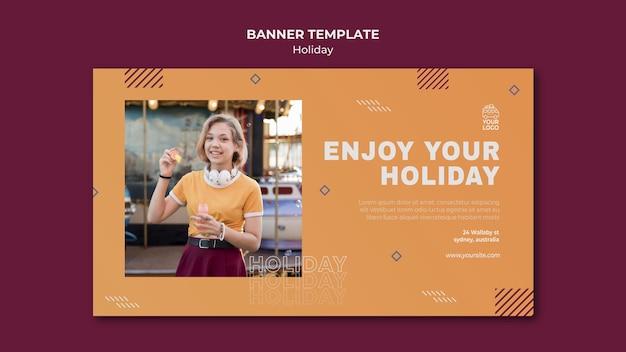 Profitez de votre modèle de bannière de vacances
