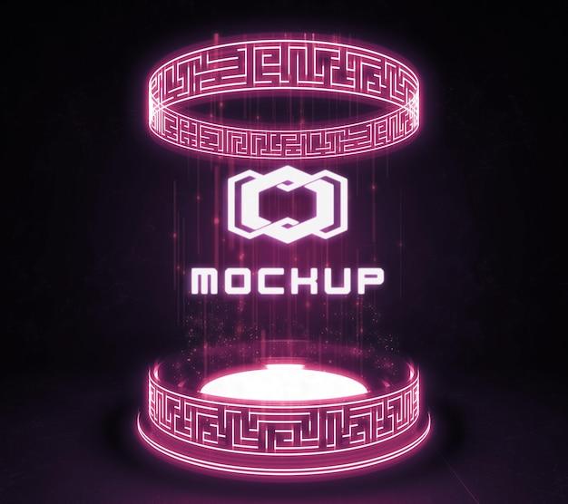 Projecteur à effet de logo futuriste
