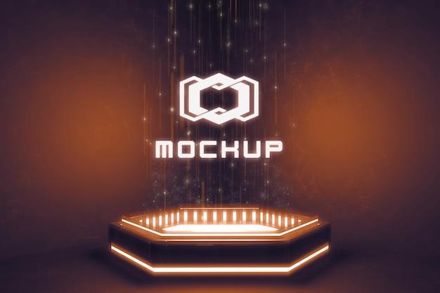 Projection d'effet de logo futuriste