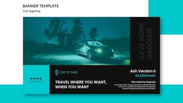 Promotion de l'agence de voiture modèle de bannière