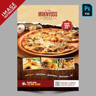 Promotion du dépliant alimentaire pour les restaurants