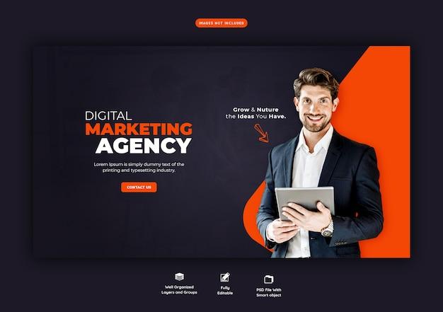 Promotion d'entreprise et modèle de bannière web d'entreprise