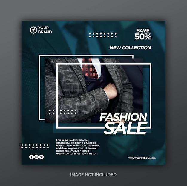 Promotion de vente moderne pour le modèle de bannière de publication instagram de médias sociaux