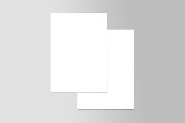 Prototype d'affiche flyer a4 double page