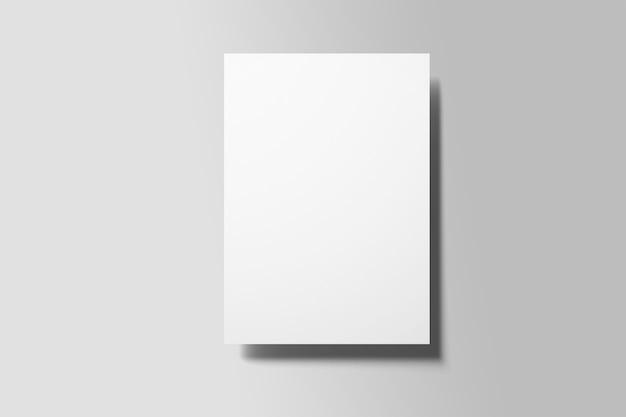 Prototype d'affiche de flyer a4 vue de dessus