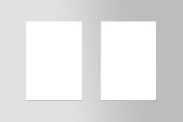 Prototype de vue de dessus d'affiche de flyer a4 double page