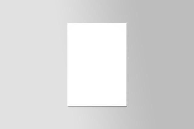 Prototype de vue de dessus d'affiche de flyer a4