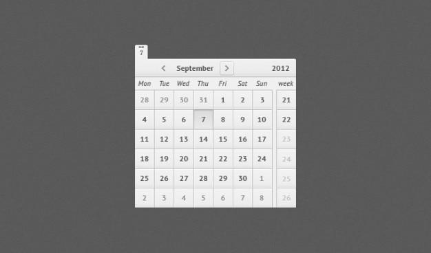 Psd calendrier