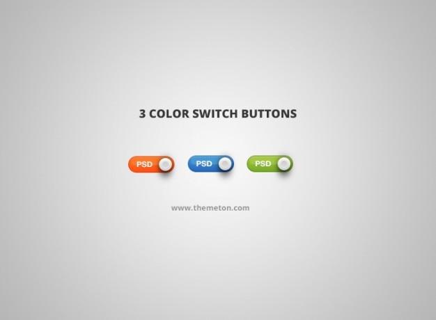 Psd couleur bouton d'interrupteur interrupteur
