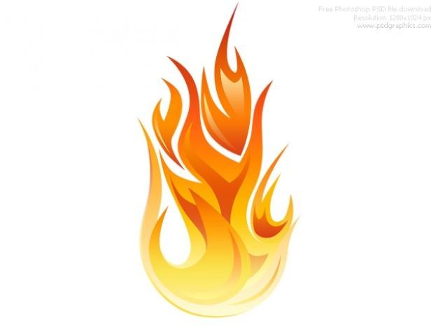 Psd icône de flamme