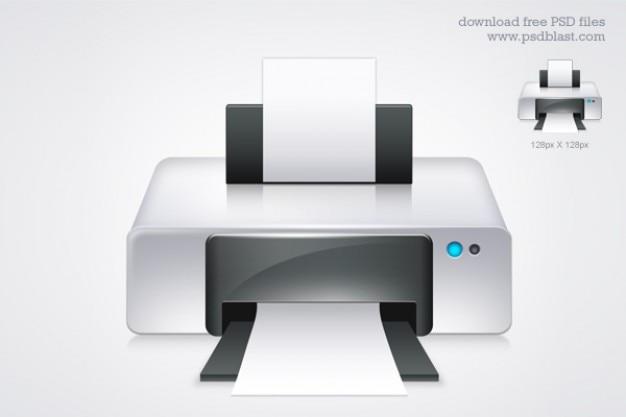 Psd icône de l'imprimante