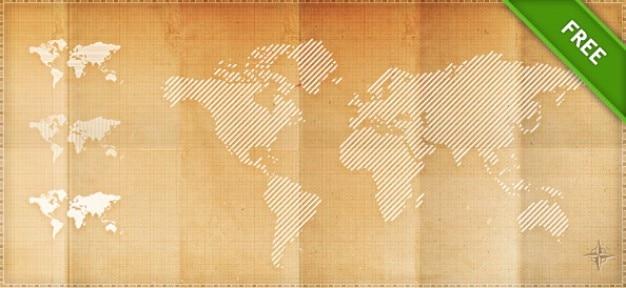 Psd pixels cartes du monde
