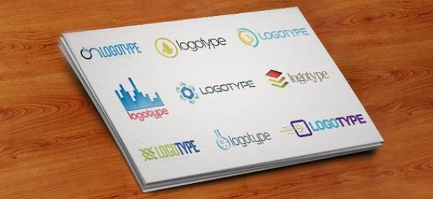 Psd templates de conception de logo emballer