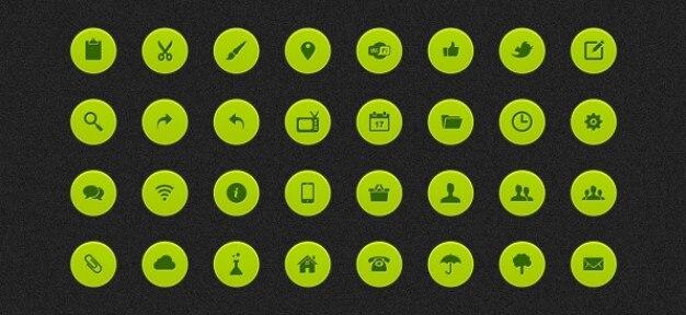 Psd web icons mis en
