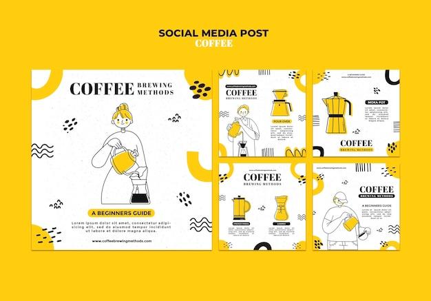Publication de café sur les réseaux sociaux