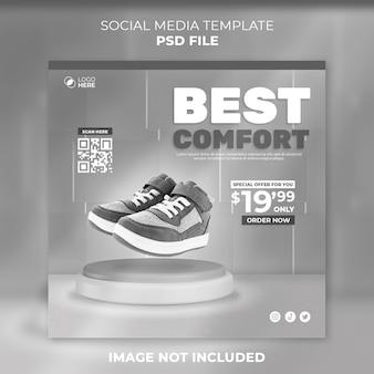 Publication De Chaussures Sur Les Réseaux Sociaux Et Publication Sur Instagram PSD Premium