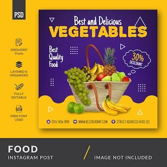 Publication instagram alimentaire