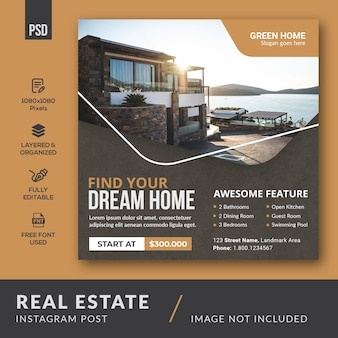 Publication instagram sur l'immobilier
