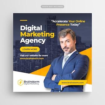Publication instagram sur le marketing des entreprises numériques