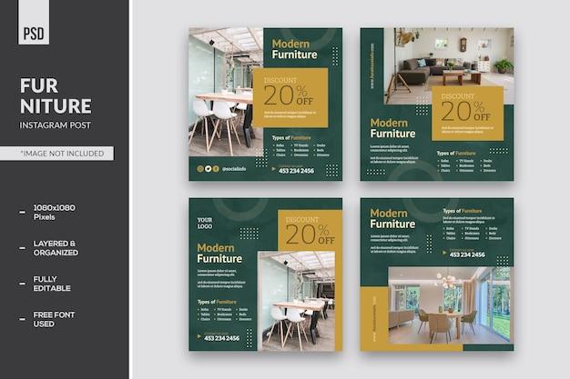 Publication instagram de meubles