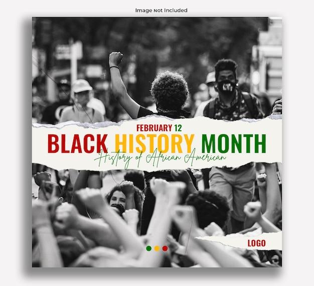 Publication instagram des mois de l'histoire des noirs
