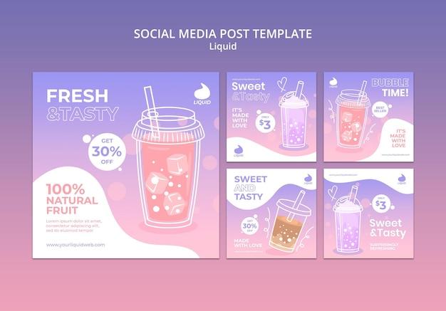 Publication liquide sur les réseaux sociaux