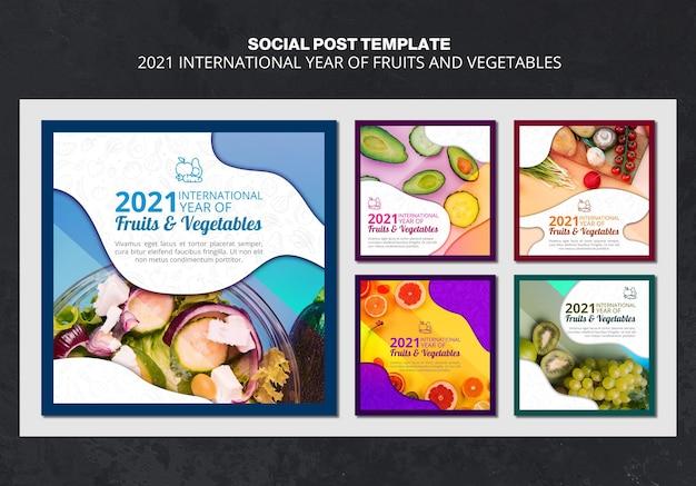 Publication sur les médias sociaux de l'année internationale des fruits et légumes